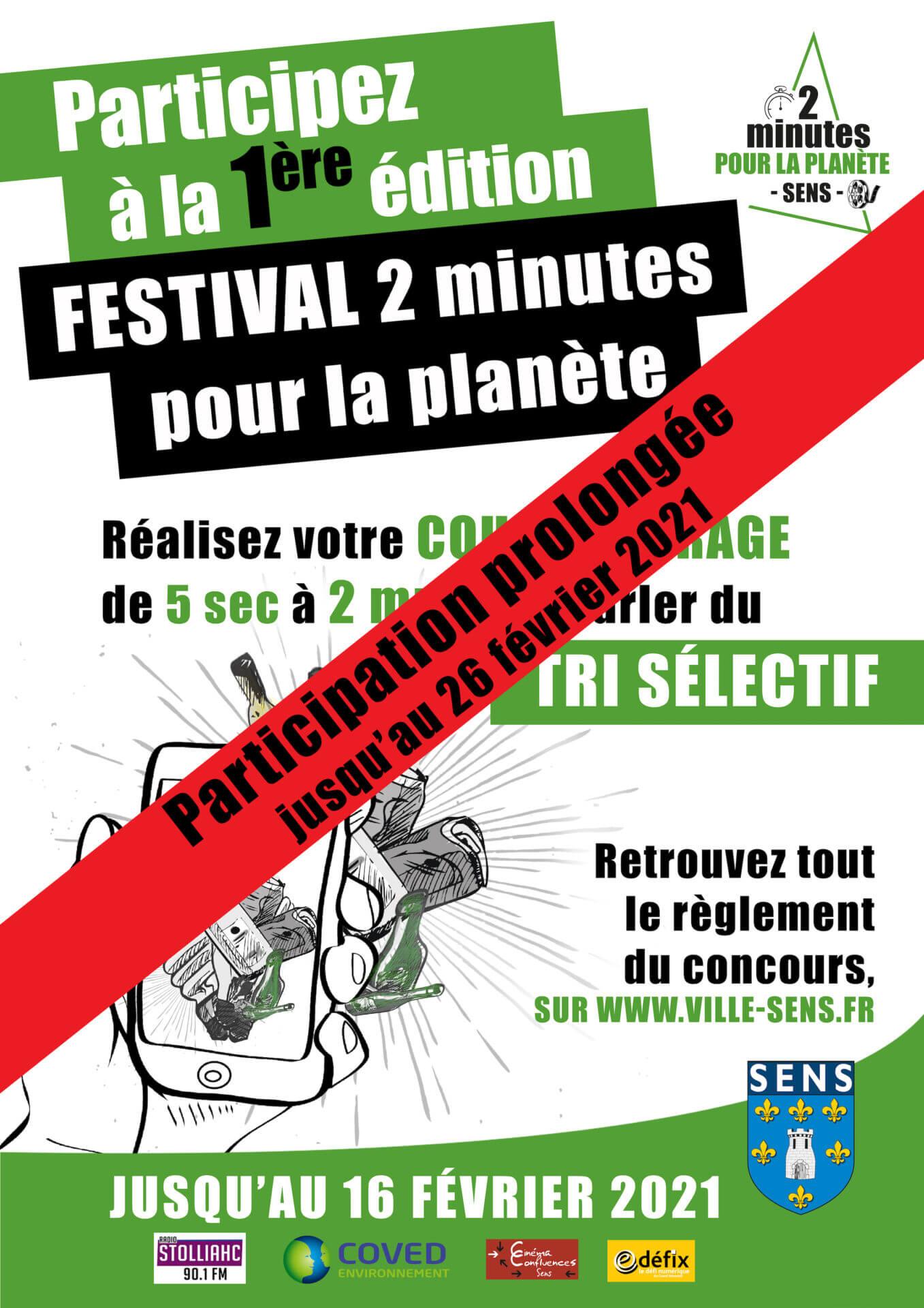 prolongation festival 2 minutes pour la planète