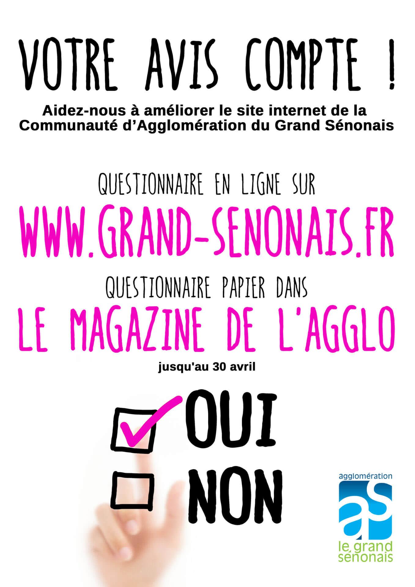 Questionnaire site communauté agglomération