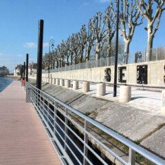 halte fluviale et lettres Sens