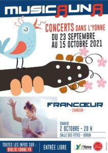Affiche Musicauna 2021 FRANCŒUR