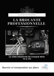 affiche brocante professionnelle Villeneuve-sur-Yonne