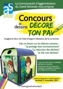 affiche concours dessin points d'apports volontaires Grand Sénonais